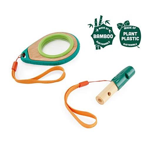 Hape Nature Detective Set  Bamboo & Plant Plastic Detective Playset Nature Exploration Toys for