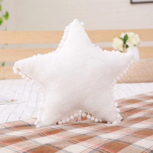 elfishgo Creative Star Moon and Cloud Plush Pillows Stuffed Toys White Star