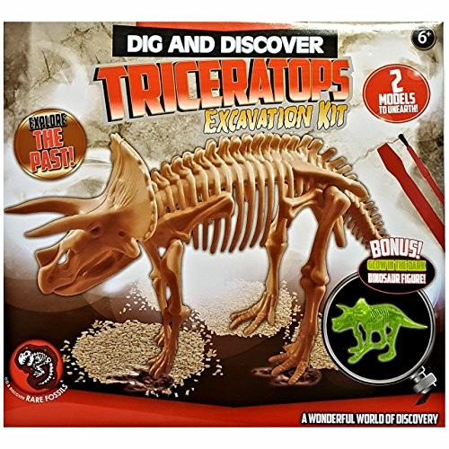 Blue Frog Toys Dig & Discover Dinosaur Skeleton Kit – Sold Individually in Assorted Designs