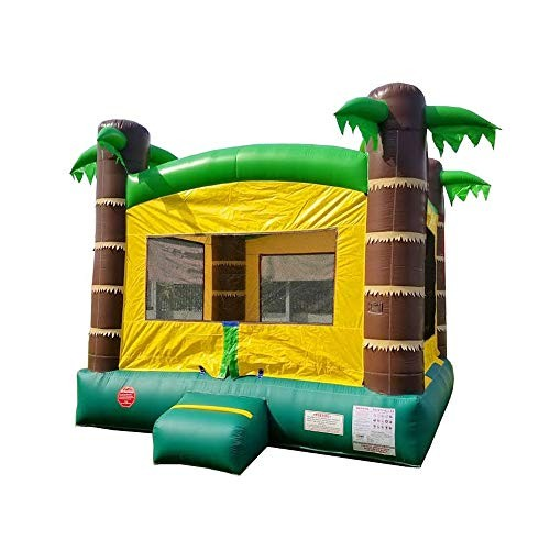 Inflatable Bounce House – 13' Foot x 12' Foot Bouncy Area – Crossover Tropical