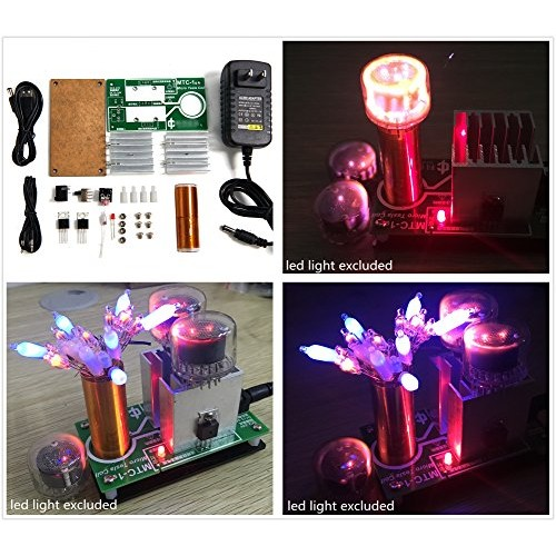 Joytech Mini Music Tesla Coil DIY Kits Wireless Transmission Experiment Model QD01