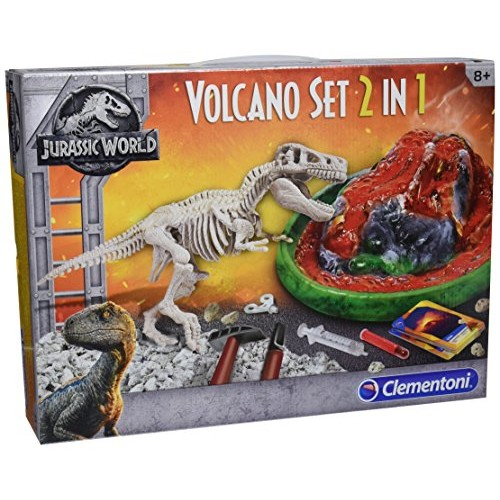 Clementoni 19064 Jurassic World Volcano and T-Rex Dig Set Multicolored