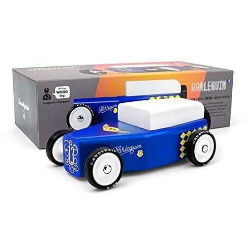 Candylab Toys Wooden Car Outlaw Harlequin Modern Vintage Style Kids Toy Car Model Solid
