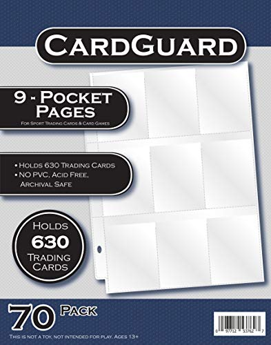 CardGuard Starter Series 9-Pocket Pages 70 Count Pack