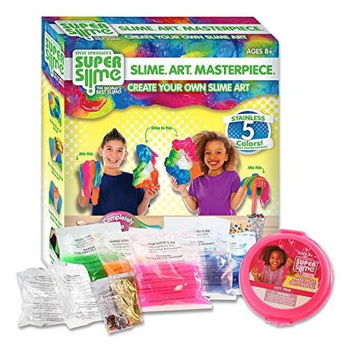 Making Slime Art Kit for Girls and Boys Toys – Kids DIY Children Ultimate Fluffy Educational Arts Crafts Activity Set Ages 7-12