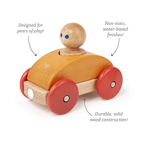 3 Piece Tegu Magnetic Racer Building Block Set Orange