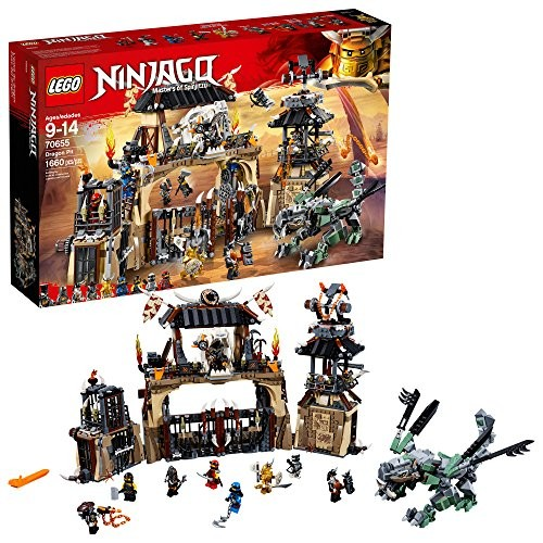 LEGO NINJAGO Masters of Spinjitzu Dragon Pit 70655 Toy Building Kit with Green Model Ninja Action Battle Playset for Kids 1660 Pieces