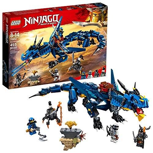 LEGO NINJAGO Masters of Spinjitzu Stormbringer 70652 Ninja Toy Building Kit with Blue Dragon Model for Kids Best Playset Gift Boys 493 Pieces