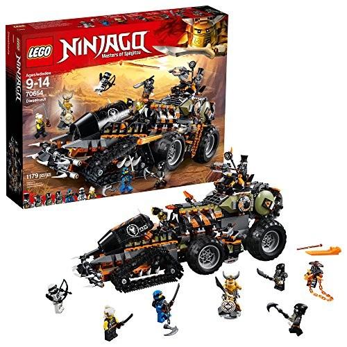 LEGO NINJAGO Masters of Spinjitzu Dieselnaut 70654 Ninja Warrior Toy and Playset Fun Building Kit with Brick Battle Tank Vehicle 1179 Pieces