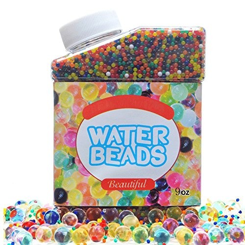 SIMUR Water Beads Crystal Gel PackSimuer Rainbow Mix Jelly Pealrs Growing Balls Vases Filler Home Decoration 300ml 280g
