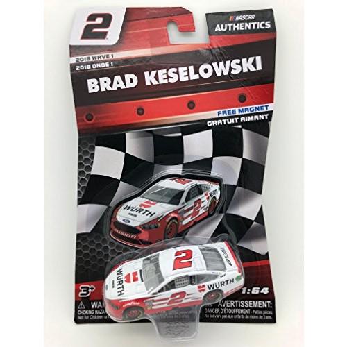 NASCAR Authentics Brad Keselowski #2 Diecast Car 1/64 Scale – 2018 Wave 1