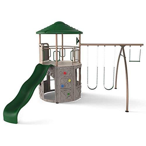 Lifetime 290633 Adventure Tower Swing Set Earthtone