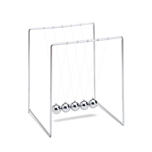 THY COLLECTIBLES Unique Stainless Steel Newtons Cradle Balance Balls 55 inch Desk Top Decoration Kinetic Motion Toy for Home and Office