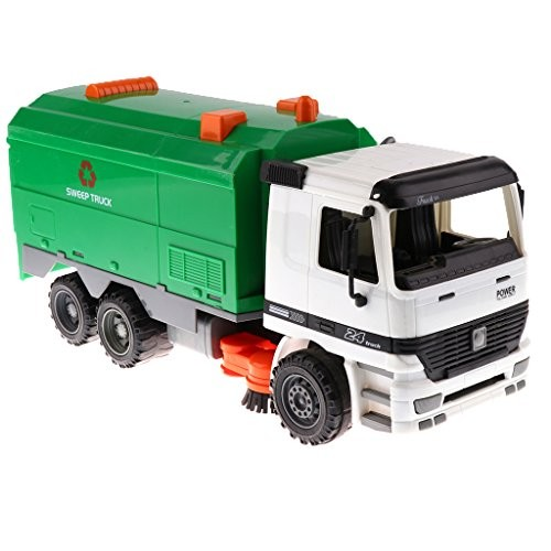 Baoblaze 1 22 Friction Powered Engineering Vehicle Toy Kids Gift – Street Sweeper