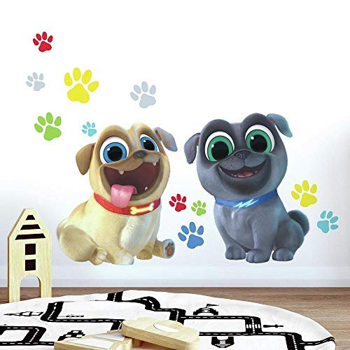 RoomMates Puppy Dog Pals Peel and Stick Giant Wall Decals Brown Blue Yellow Green Red 365 x 1725 – RMK3775GM