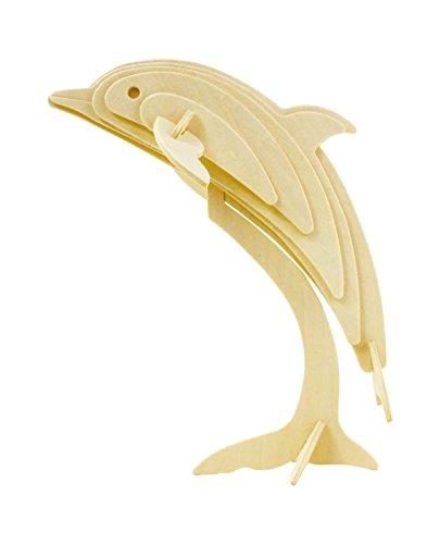 Hands Craft JP296 DIY 3D Wooden Puzzles Dolphin