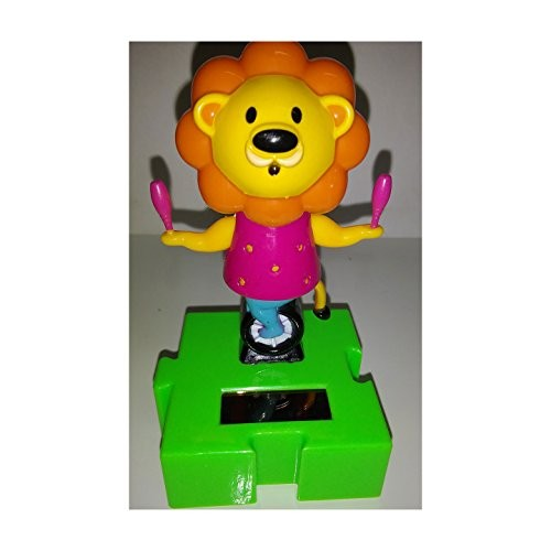 Plastic Solar-Powered Swinging circus Lion Style May Vary