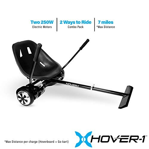 Hover-1 Ultra Electric Hoverboard and Go-Kart Attachment Combo (2 piece set)