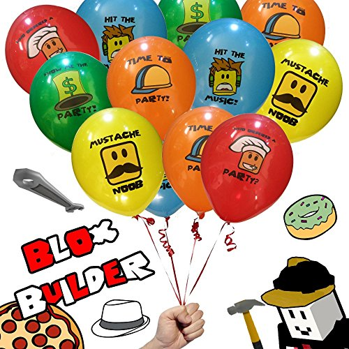 20 Blox Builder Balloons Birthday Game Truck Party Favor