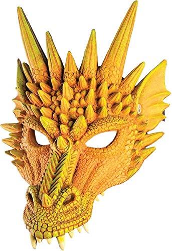 Forum Novelties Dragon Half Mask Orange