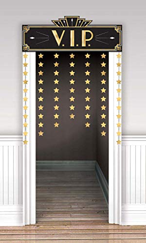 Amscan Party Supplies Glitz & Glam Doorway Curtain 12 ct 39 x 55 3 4 Multi Color