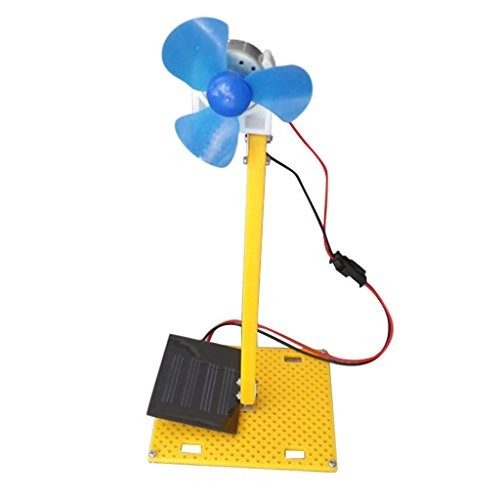 Baoblaze DIY Solar Power Generator DC Motor Fan Toy For Science Education Model