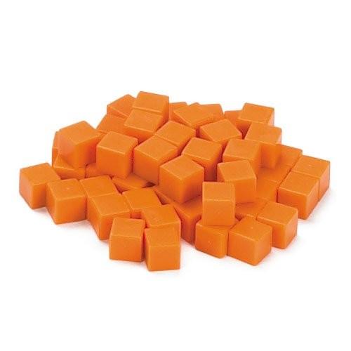 EAI Education Base Ten Units Orange Plastic – Set of 100