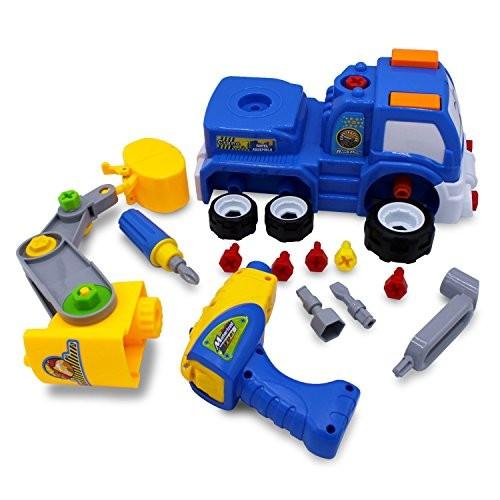 Transformania Toys Kids Educational Take Apart Boy Vehicle Toy Construction Developmental STEM Learning Crane Engineering Tools Build Your Own Car Play Set Children