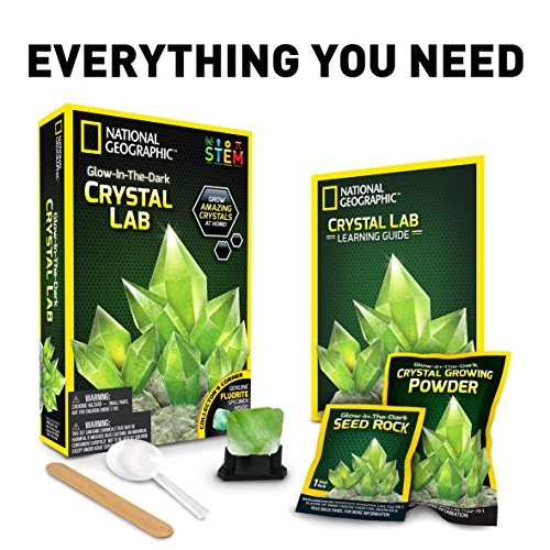 NATIONAL GEOGRAPHIC Glow in The Dark Crystal Growing Kit