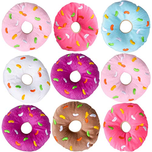 Bedwina Plush Donuts with Sprinkles – Pack of 12 1 Dozen Stuffed Donut Pillow Toy Party Favors Supplies Decorations and Stocking Stuffers for Kids