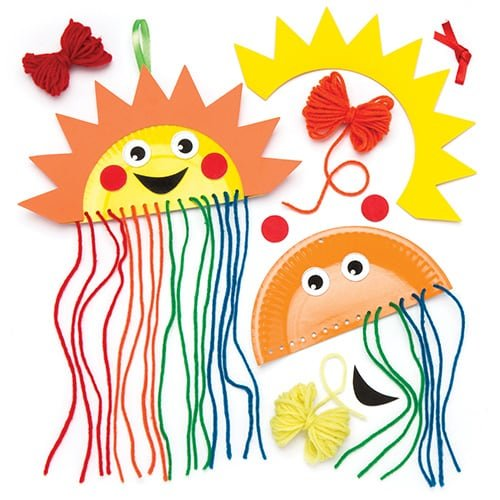 Rainbow Plate Decoration Pack of 4 Kids to Make & Decorate