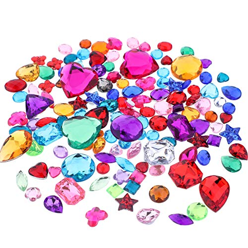 Richness Jewel Stickers Self Adhesive Jewels Kids DIY Gem Various of Sizes Shapes and Colors 300+300pcs