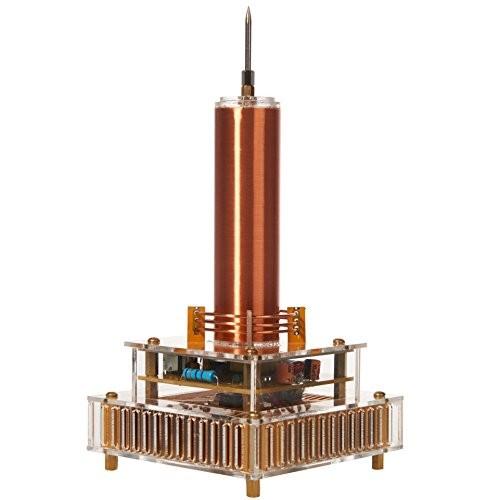 Joytech Music Tesla Coil Acrylic Base Shell Arc Plasma Loudspeaker Wireless Transmission Experiment Desktop Toy Model YS04