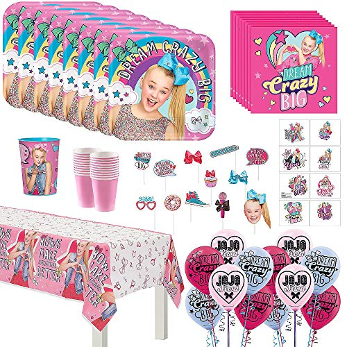 JoJo Siwa Mega Deluxe Birthday Party Pack for 16 Guests