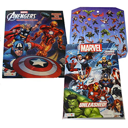 Benton Marvel Avengers Assorted Title Coloring Books-2Pack