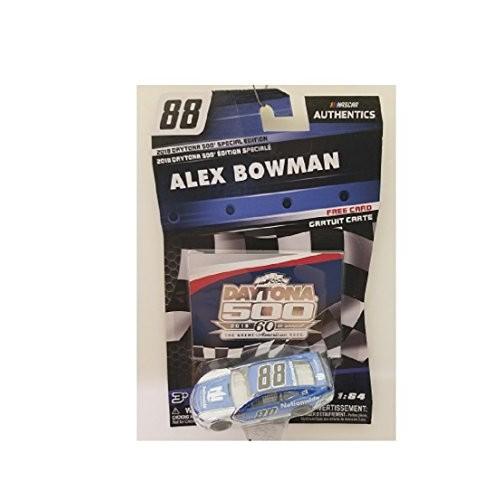 NASCAR Authentics Alex Bowman Diecast Car 1/64 Scale – 2018 60th Daytona 500 Special