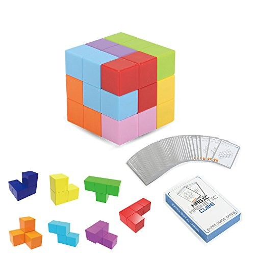 PLRB Magnets Cubes Magnetic Tiles for Kids Educational Toys Stress Relief Toy Puzzle Square Building Blocks to Develops Intelligence