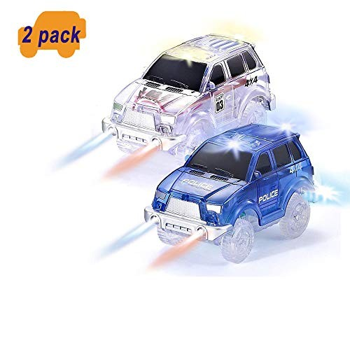 ONTOPON Jeep Style Illuminated Cars with for Flexible Circuit and Illuminated Car Circuit (Blue+Silver)