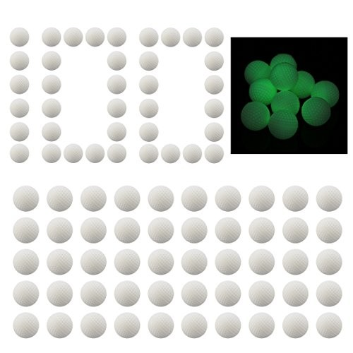 Lingxuinfo Fluorescence Glow in The Dark 100-Round Refill Pack Foam Bullet Ball for nerf