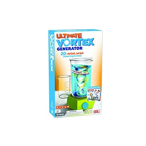 SmartLab Toys Ultimate Vortex Generator – 9 Pieces 20 Experiments Includes 24-Page Activity Book & Magnetic Mixing Machine