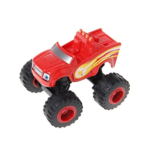 Sixsons Blaze Machines Vehicle Toy Racer Cars Truck Transformation Toys Gifts For Kids (Red)