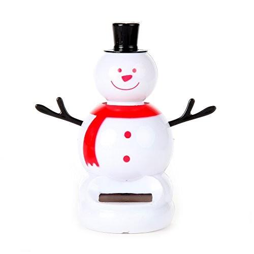 Home-x Solar Powered Dancing Snowman