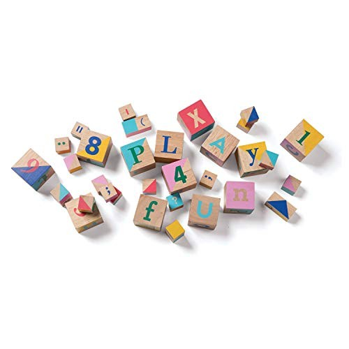 Manhattan Toy 33 Piece Shape and Color Recognition Wooden Block Set