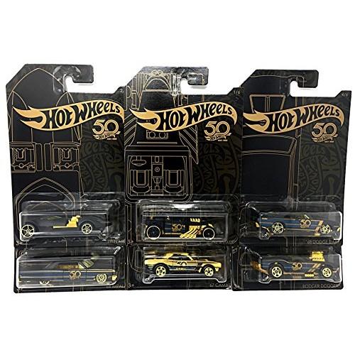 Hot Wheels New 1:64 50th Anniversary Black & Gold Collection – '67 Camaro Bone