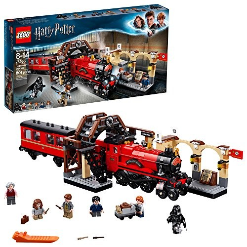 LEGO Harry Potter Hogwarts Express 75955 Toy Train Building Set includes Model and Minifigures Hermione Granger Ron Weasley 801 Pieces