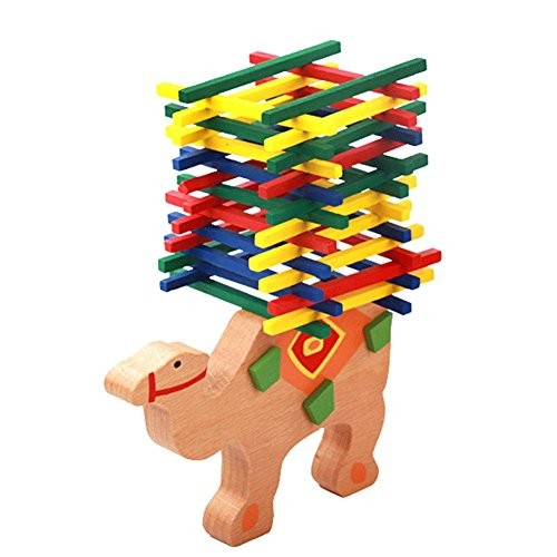 General Baby Wooden Toy Educational animal Balancing Blocks Elephant Camel Building Balance Game Gift For Child Camel