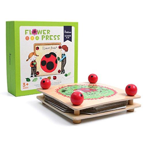MiDeer Wooden Flower Press DIY Kit Tools Art Craft Nature Natural Science Outdoor Toys