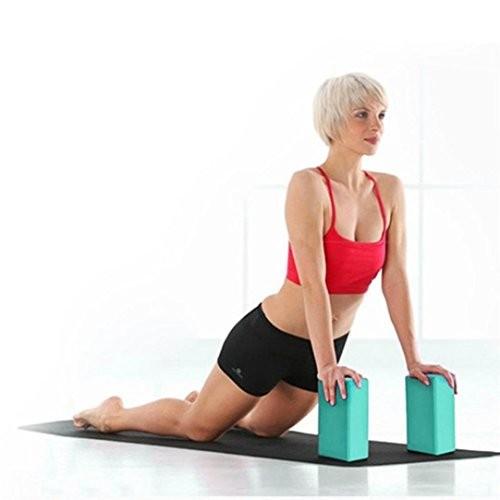 Jeeke Yoga Block – High Density&Non-Toxic&Stretch -Resistant Foam Bolster Pillow Comfort and Grip EVA Gym Training Sky Blue 9x59x31inch
