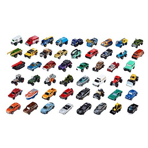 Matchbox 50 Car Pack Variety of Realistic Working Vehicles Instant Collection for Ages 3