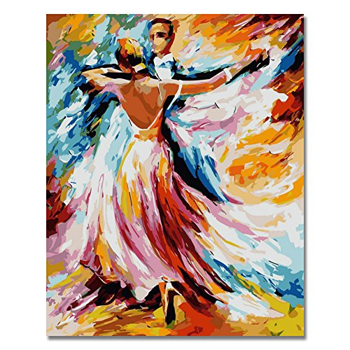 LIUDAO Paint by Numbers Kits for Adults Kids 16×20 Inches Without Frame Oil Painting -Dancing Lover